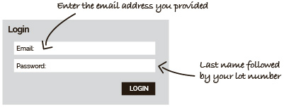login information graphic